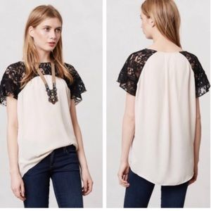 Anthropologie Maeve Penumbra Top